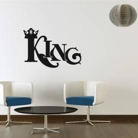Sticker Graffiti King - 57*82 CM - NOIR - STICKER2147