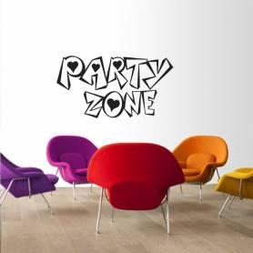 Sticker Graffiti Party zone - 57*106 CM - NOIR - STICKER2145