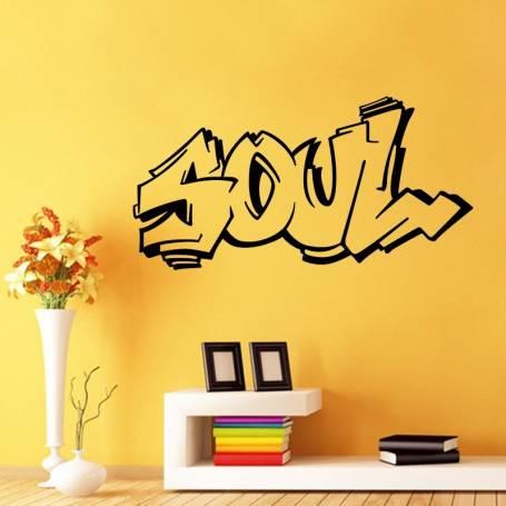 Sticker Graffiti Soul - 57*112 cm - noir - STICKER2168