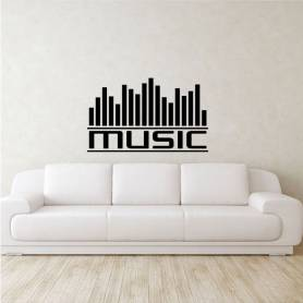 Sticker Graphe music -...