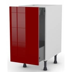 ARCHICUISINE Meuble Bas - Porte Bouteille & Pain  - 40* 72 * 58 cm  - Rouge Vif