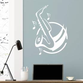 Sticker Design saxophone -...