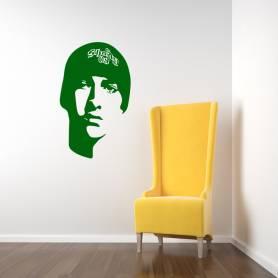 Sticker musique portrait Eminem - 57*93 cm - VERT - STICKER2216-1
