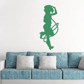 Sticker silhouette cowgirl...