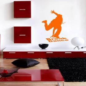 Sticker Silhouette danseur Break dance - 57*68 CM - orange  - STICKER2244-1