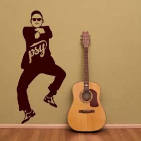 Sticker Psy Gangnam style - 57*130 CM - MARRON - STICKER2243-1