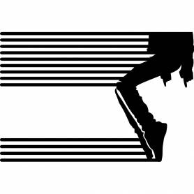 Sticker Silhouette chorégraphe Moonwalk - 85*57 CM - NOIR - STICKER2233