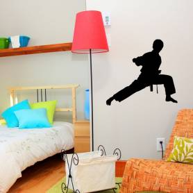 Sticker Silhouette Karateka...