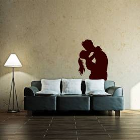 Sticker Silhouette couple...