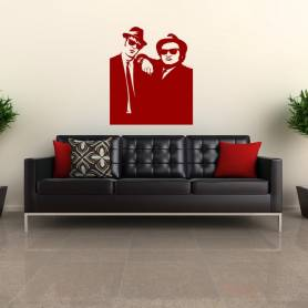 Sticker Silhouette Blues brothers - 57*67 CM - ROUGE - STICKER2258-1