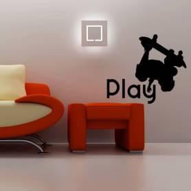 Sticker Play Skateboard - 57*65 CM * NOIR - STICKER2272