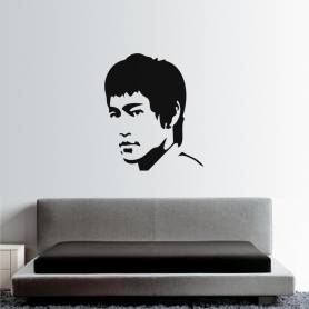 Sticker Visage Bruce Lee -...