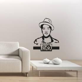 Sticker Bruno Mars - 57*72 CM - NOIR - STICKER2400