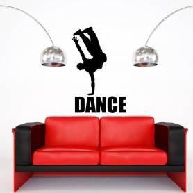 Sticker danseur de hip-hop - 57*77 CM - NOIR - STICKER2395