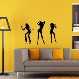 Sticker trois danseuses - 57*77 CM - NOIR - STICKER2393