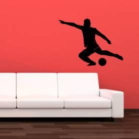 Sticker footballeur 5 - 57*77 cm - noir - STICKER2371