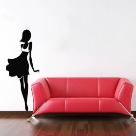 Sticker Femme moderne -...