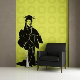 Sticker Silhouette Geisha -...