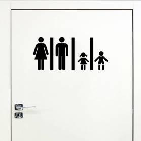 Sticker Pour Salle De Bain Famille -sticker087 -21*45 cm