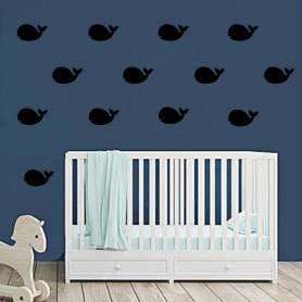 Sticker mural baleine 25...