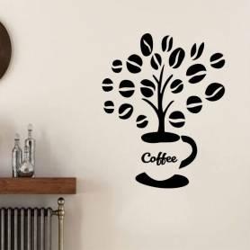Sticker mural arbre de café -sticker 452 - 71*57 cm