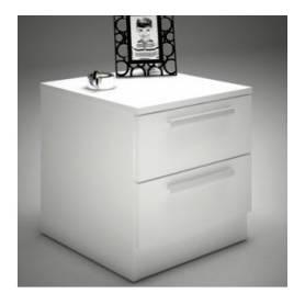 TABLE DE NUIT - 50*40*40 cm - Bois MDF Stratifié - Blanc