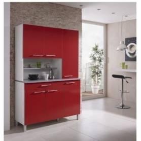 Buffet  De Cuisine  L120  - bois MDF Stratifié - 120*197*44 cm -Rouge Vif