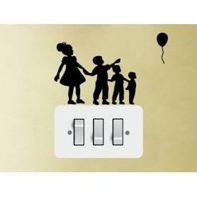 Autocollants Kids-Noir -sticker263 - 10*10 cm