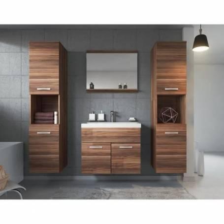 Meuble salle de bain à 2 colnnes - Bois MDF  Stratifiée -