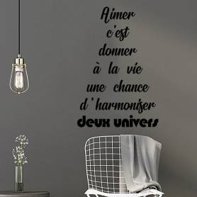 Sticker Chambre A Coucher Aimer C'est Donner -sticker326 -55*82 cm