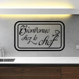 Sticker cuisine bienvenu chez le chef- -sticker363 -57*95 cm