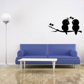 Sticker Amour d'oiseaux -...