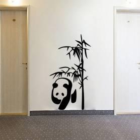 Sticker Mural Panda Bambous...