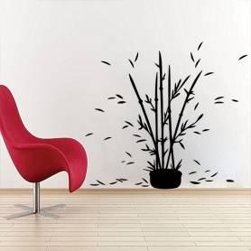 Sticker mural bambous...
