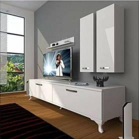 Elément TV  classique  - 180*46*35 cm - Blanc
