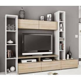 Element Tv Parma - 210*220*35 cm -Bois MDF -  Beige