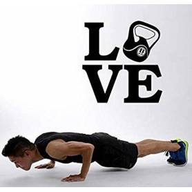 Sticker Mural Love Sport...