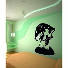 Sticker mural mushroom -...