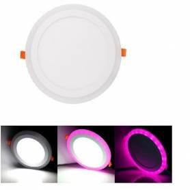 Spot led panel- 3+3 w - 220 v - Rond - Violet & Blanc