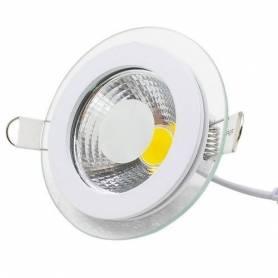 Spot led - En verre - 5 w - 220 v - Blanc chaud