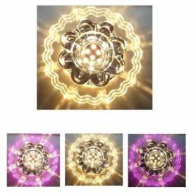 Spot cristal led - SMD - 10w - Double couleur Warm white et rose - 220 V