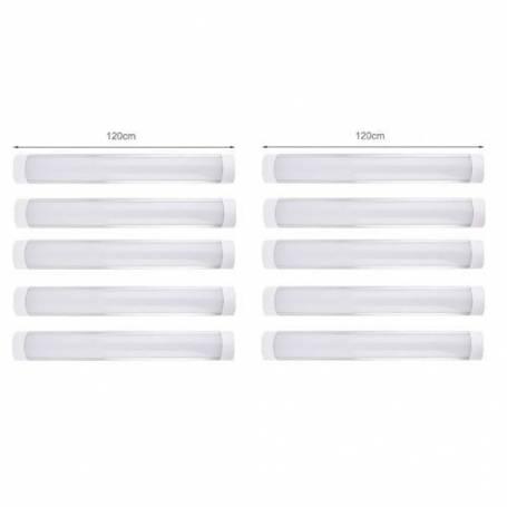 Kit de 10 réglette LED étanche - 120 cm - 220 v - 36w - Blanc Froid