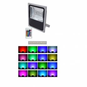 Projecteur R G B - 100 w - 16 couleurs - 4 modes - Étanche - 220 v