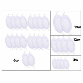 Pack de 28 spots panel - LED - 220 v - 6500 K - S &2