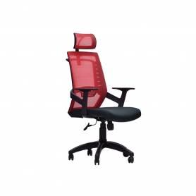 Chaise De Bureau -  PLATINUM - Rouge &Noir