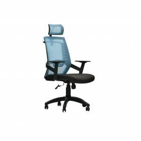 Chaise De Bureau -PLATINUM - Bleu &Noir