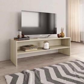 Meuble TV - MDF Stratifiée - Chêne Sonoma