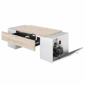 Table basse avec 2 caisson - LUCKY - 123*55*42 cm