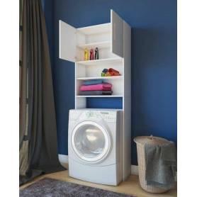Meuble pour machine a lavé - Bois MDF - 180*70*25 - Blanc