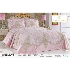 couvre lit anemon Rose